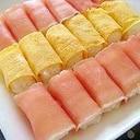 お花見に✿生ハムと卵のお寿司