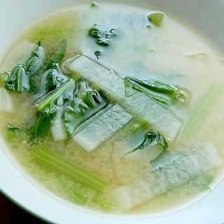 ジャコ入りでカルシウム&旨み❤野菜の味噌汁♪