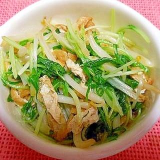 水菜ともやしの炒め物