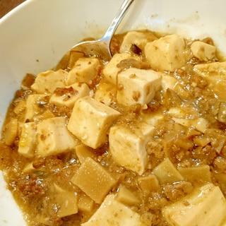 たけのこいり挽き肉そぼろ肉豆腐