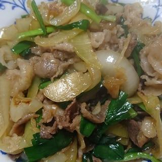 ★豚小間肉のスタミナ炒め★
