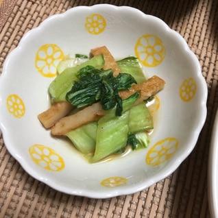 簡単10分♪チンゲン菜と平天のオイスター炒め
