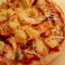 ☆グリルピザプレートで簡単☆ポテマヨピザ