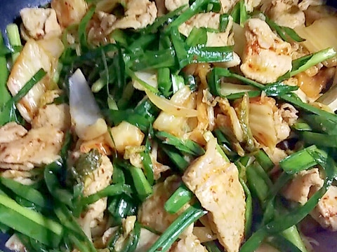 野菜たっぷり豚キムチ
