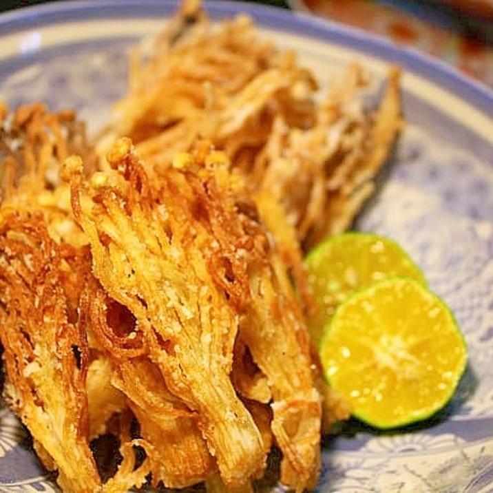 えのき茸のカリカリ揚げ