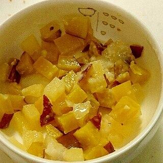 離乳食★さつまいもとりんごの甘酒和え