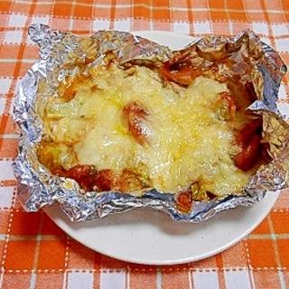 ウインナーとキャベツのチーズ焼き