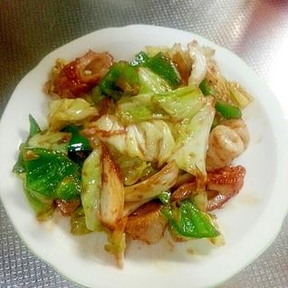 ちくわと野菜の味噌炒め