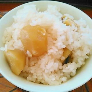 栗の甘露煮で甘みのある栗ご飯