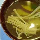 さつまいもとえのきの中華スープ