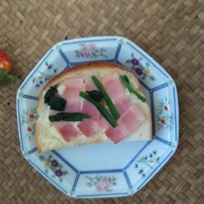 ここちゃん お出かけかな? 朝食にほうれん草で~♪ がっつり食べられ 美味しかったです(@_@)