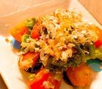 菜の花とトマトの和風サラダ