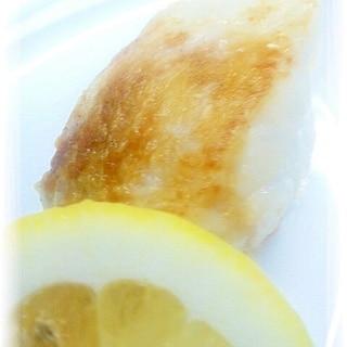 白身魚のムニエル*オリーブオイルしょう油レモン添え
