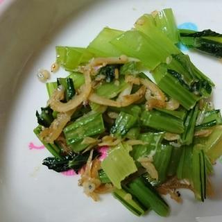 お弁当に簡単5分♪小松菜のしらす炒め