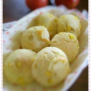 白玉粉とHMでチーズ入りもちもちコーンブレッド
