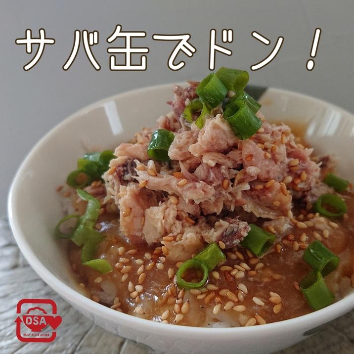 [電子レンジ]サバ缶で満足丼!