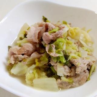 白菜消費☆豚肉と白菜の中華蒸し