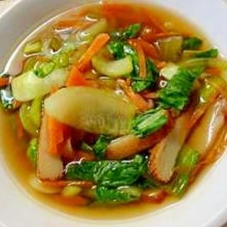 レンジで チンゲン菜とさつま揚げの煮びたし