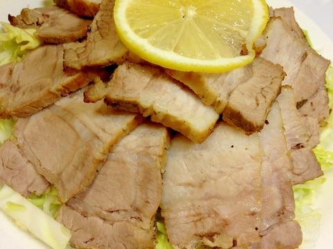 おうちでモクモク楽しい♪豚かたまり肉の燻製風