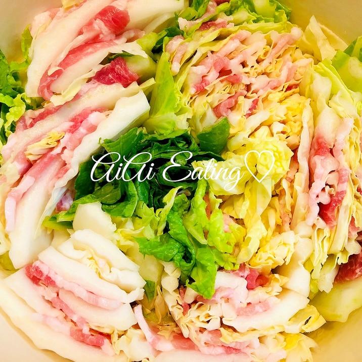 豚 バラ 白菜 ミルフィーユ 鍋
