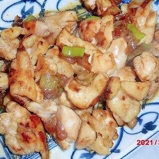 葱と鶏もも肉と醤油とたれのグリル