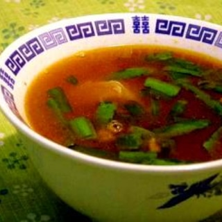 寒い日はピリ辛スープで