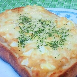 ツナ&ゆで卵のトースト その1