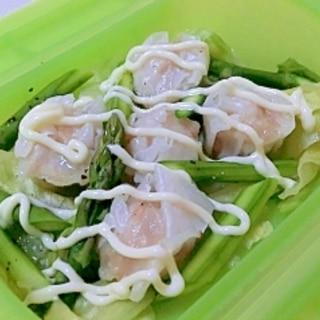 ルクエで簡単♪冷凍シュウマイの野菜蒸し