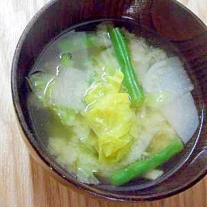 春野菜でお味噌汁
