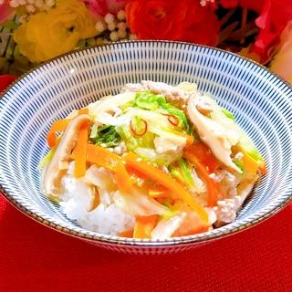 レンチンで簡単☆白菜と挽肉のトロミ煮(お鍋可)