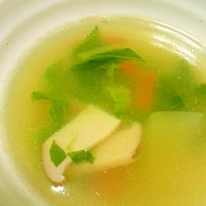 簡単♪チンゲン菜とエリンギの中華スープ