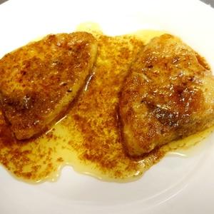 バター醤油でメカジキのムニエル
