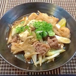 牛バラ肉で作る‼︎しっかり味の染みた☆肉豆腐