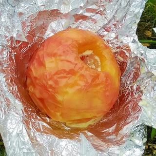 キャンプのおやつに 焼きリンゴ