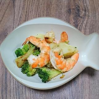 野菜とえびの塩炒め~わずかにカレー風味~