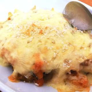 リメイク料理★かぼちゃの煮物グラタン