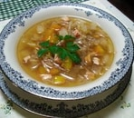 ベーコン、もやしのスープ