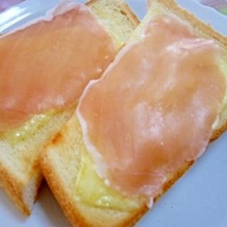 チーズと生ハムのトースト