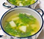 セロリの葉とじゃがいものスープ