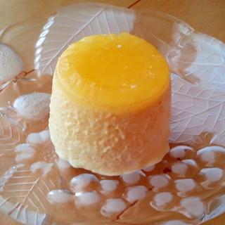 ふわふわ!簡単♪本格的な二層のオレンジムース♥