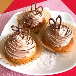 カップケーキやクレープにも♡美味しいチョコクリーム