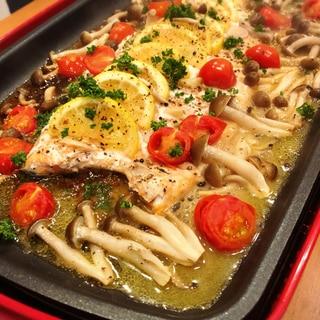 ブルーノで鮭のちゃんちゃんイタリアン風