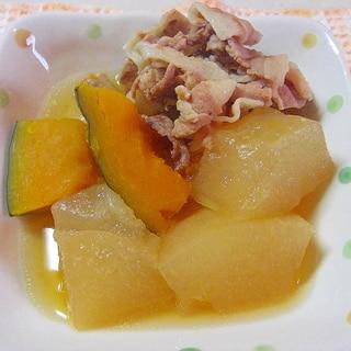 冬瓜とかぼちゃの煮物。