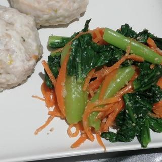 レンジで簡単作りおき♪小松菜と人参の中華和え