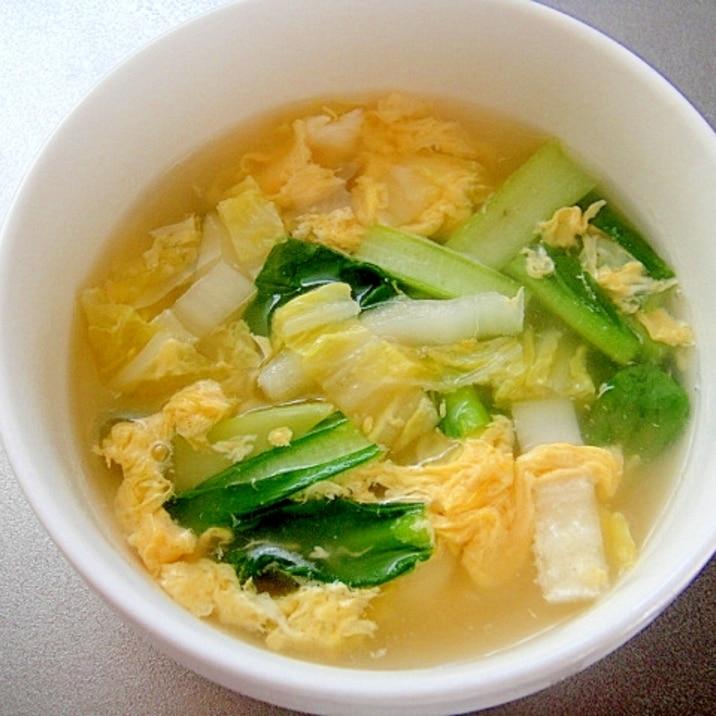 卵 スープ 白菜