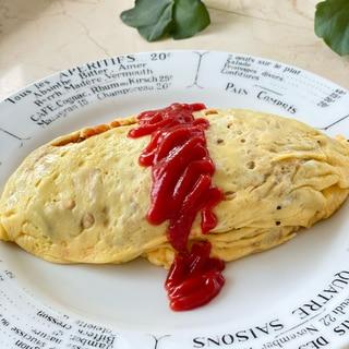 オートミールご飯でオムライス~お弁当にも❗️