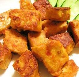 高野豆腐で鶏の唐揚げ風