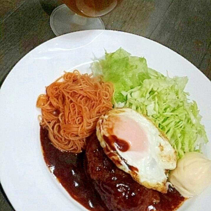 豚肉100%で節約かつリッチ☆洋食屋風ハンバーグ