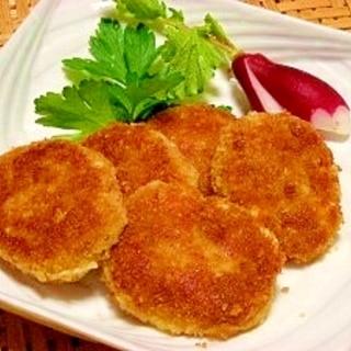 ポテトサラダをリメイク☆フライパンでコロッケ