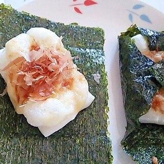 小腹がすいたら! おやつに! 海苔包み納豆チーズ餅